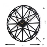 Retro Style Iron Circular Star Pattern Wall Clock,Home Decorators,[tags] - DeliteShopping