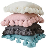 Handmade High Quality Knit Cushion Cover Pillowcase With Tassels 45*45cm,,[tags] - DeliteShopping