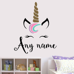 Unicorn Monogram Theme Custom Made Wall Sticker Girls' Room Decor,Home Decorators,[tags] - DeliteShopping