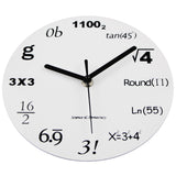 Fashion Novelty Maths Equation Acrylic Wall Clock Modern Design,Home Decorators,[tags] - DeliteShopping