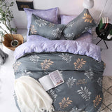 Home Bedding Sets 4Pcs Bed Sheet Duvet Cover Set Pillowcase Without Comforter,,[tags] - DeliteShopping