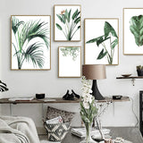Nordic Style Green Plants Leaf Canvas Art Paint Home Decor,Home Decorators,[tags] - DeliteShopping
