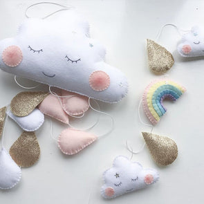 Nordic Style Handmade Felt Cloth Cloud Raindrops For Nursery/ Kids Room,,[tags] - DeliteShopping