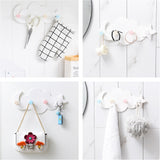 Creative Wall Mounted Moon Moon Cloud 4 Hanger Hooks,,[tags] - DeliteShopping