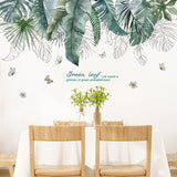 Tropical Tree Leaves Wall Stickers Greenery Room Decor,Home Decorators,[tags] - DeliteShopping