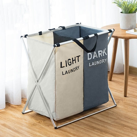 Clothes Waterproof Storage Bag Laundry Organizer Two/Three Grids,,[tags] - DeliteShopping