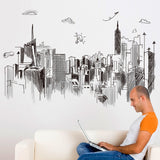 Hanging Lamps City Buildings Modern Style Wall Stickers,Home Decorators,[tags] - DeliteShopping