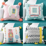 Handmade Modern Geometric Tassel Pillowcase With Invisible Zip,,[tags] - DeliteShopping