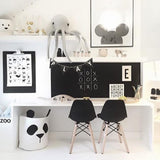 Nordic Style Cute Panda Storage Bag Toys Organizer For Kids 30*40cm,,[tags] - DeliteShopping