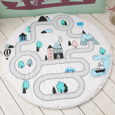 Nordic INS Village Road Adventure Baby Kids Play Mats Carpet,,[tags] - DeliteShopping