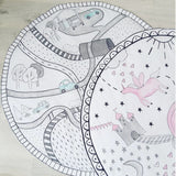 Nordic Ins Pencil Drawing Car Track Cloud Unicorn Kids Baby Play Mat Crawling Rug,,[tags] - DeliteShopping