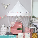 Nordic Style Plat Tent House Mosquito Net Canopy For Baby Kids Nursery Room,,[tags] - DeliteShopping