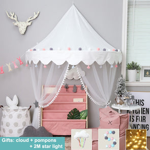 Nordic Style Play Tent House Mosquito Net Canopy For Baby Kids Nursery Room,,[tags] - DeliteShopping