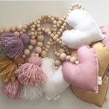 Nordic Style Star Moon Love Tassels Wooden Beads Ornaments For Kids Baby Room Photography Props,,[tags] - DeliteShopping