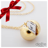 Secret Message Ball Pendant Necklace,,[tags] - DeliteShopping
