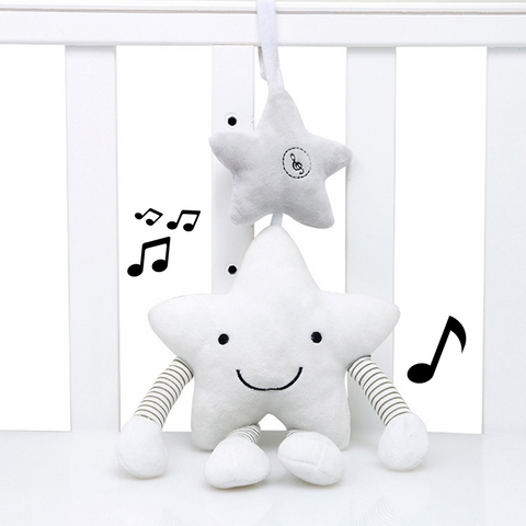 Stroller Music Hanging Star Plush Toys For Newborn Baby,,[tags] - DeliteShopping