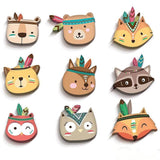 Wood Wall Decor Wooden Toy Creative Sticker Nursery Baby Kids Room Decorators,Home Decorators,[tags] - DeliteShopping