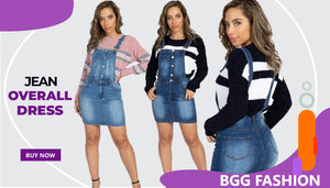 Jean overall dress buy now - BGG FASHION