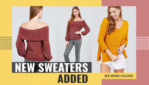 New Sweaters Added See More Colors - BGG FASHION