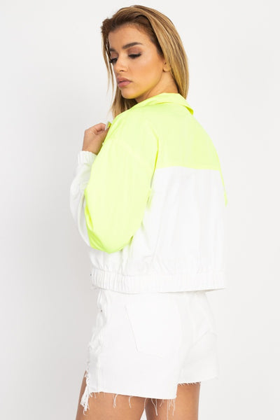 Long Sleeve Color Blocking Wind Breaker