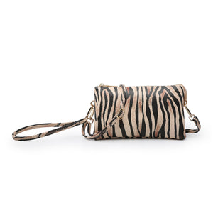 Tiger Print Crossbody/Wristlet in Yellow