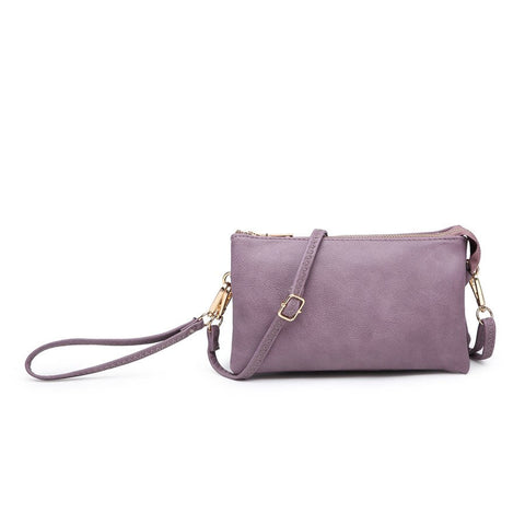 Compartment Wristlet/Crossbody in Violet