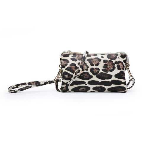 Compartment Wristlet/Crossbody in Snow Leopard