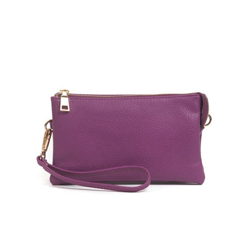 Compartment Wristlet/Crossbody in Purple