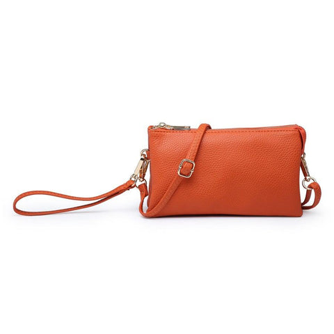 Compartment Wristlet/Crossbody in Orange