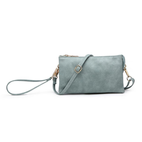 Compartment Wristlet/Crossbody in Teal