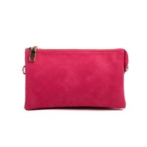 Compartment Wristlet/Crossbody in Hot Pink