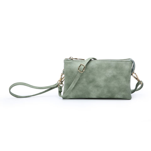 Compartment Wristlet/Crossbody in Jade