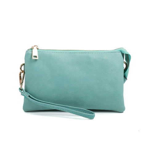 Compartment Wristlet/Crossbody in Mint