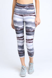 High Waist Zen Print Capri Leggings