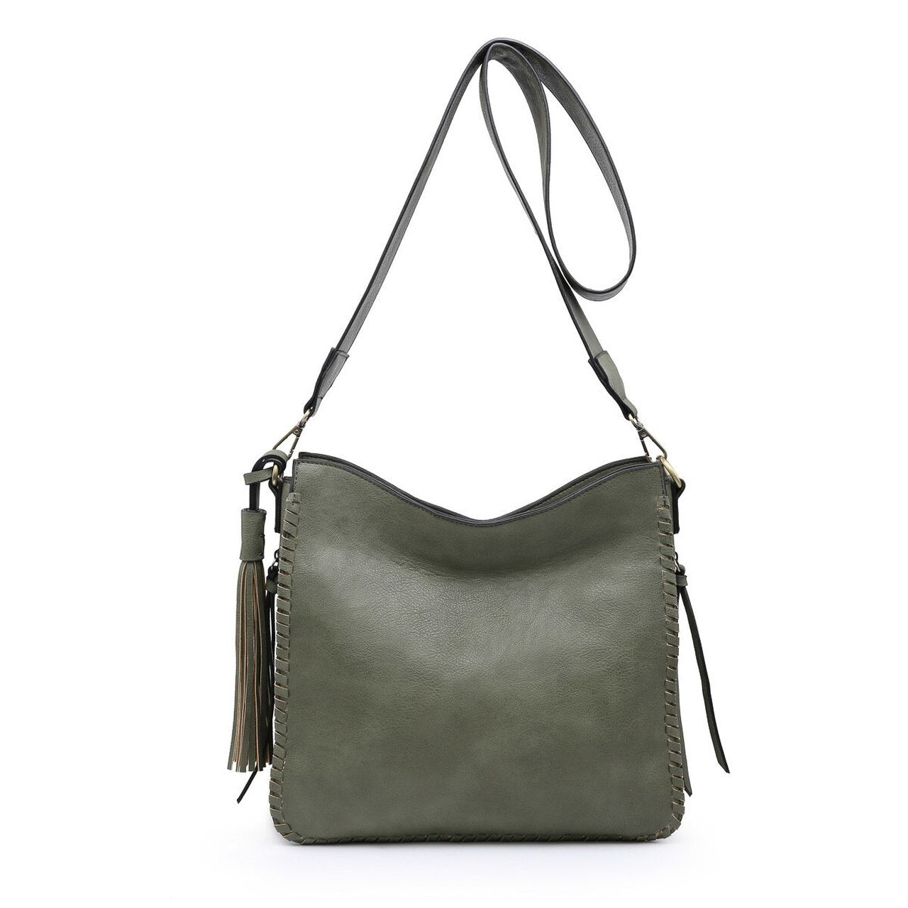 Monogrammable Whipstitch Conceal/Carry Crossbody in Olive