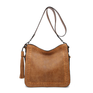 Monogrammable Whipstitch Conceal/Carry Crossbody in Brown
