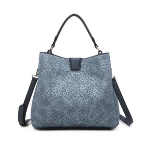 Hobo Bag in Cheetah Classic Blue