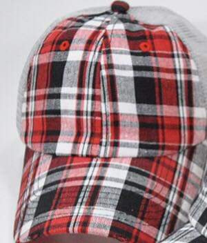 Hat in Red Plaid