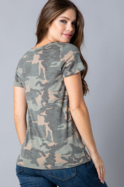 Take a Hike Graphic Tee in Camo