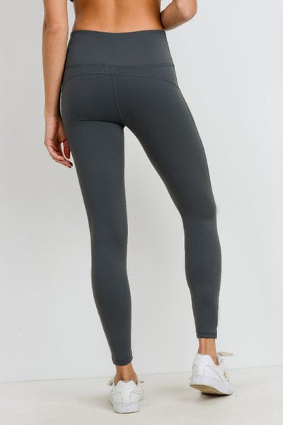 Highwaist Infinity Zig-Zag Mesh Leggings in Kale
