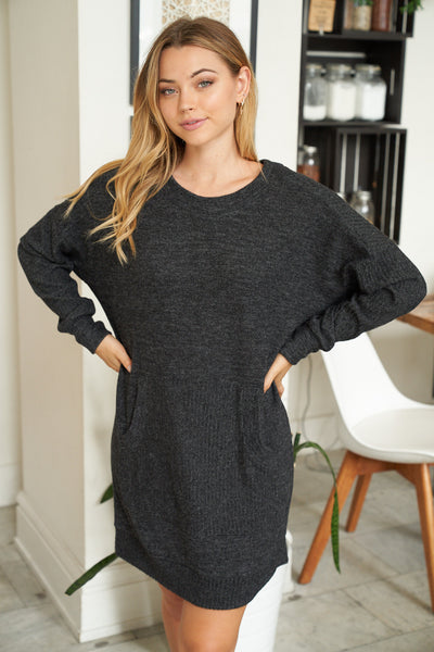 Sweater Dress in Charcoal