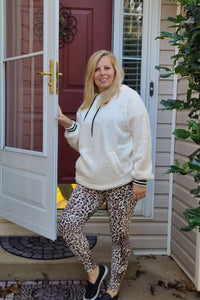 Leopard Print Leggings in Ivory