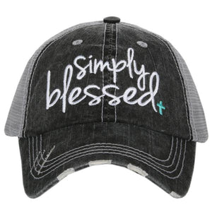 Katydid Simply Blessed Trucker Hat in Mint