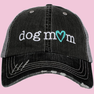 Katydid Dog Mom Trucker Hat in Gray