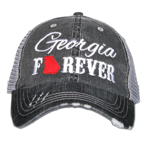 Katydid Georgia Forever Trucker Hat in Red