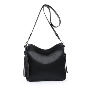 Monogrammable Whipstitch Conceal/Carry Crossbody in Black