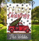 Personalized garden flags Christmas 4 desings