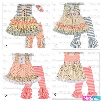 Vintage style Coordinating sets closing 5-13