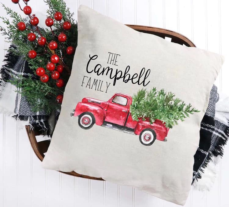 Personalized Christmas Pillow Closing Friday 7/26