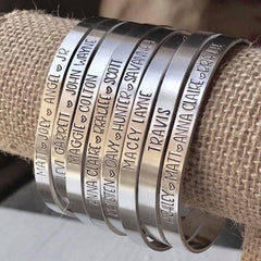 BEST SELLING PERSONALIZED HAND STAMPED BRACELET